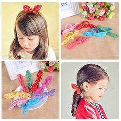 Aurabe - Polka Dot Bow Hair Clip / Hair Tie