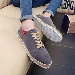 Araeo - Plain Lace-Up Shoes