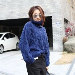 PIPPIN - Turtle-Neck Cable-Knit Sweater