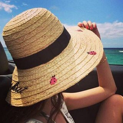 Pompabee - Ladybird Straw Hat