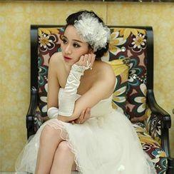 Bridal Workshop - Strapless Rosette High-Low Prom Dress