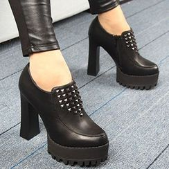Forkix Boots - Studded Platform Ankle Boots