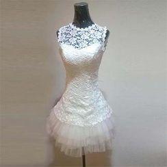Bridal Workshop - Sleeveless Lace Party Dress