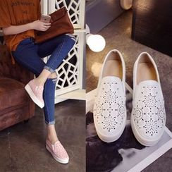 Shoes Galore - Perforated Slip Ons