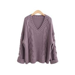 VIZZI - V-Neck Thick Sweater