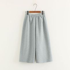 Mushi - Cropped Wide Leg Pants