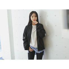 Envy Look - Lettering Zip Bomber Jacket