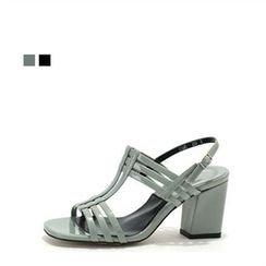 MODELSIS - Buckled Chunky-Heel Sandals