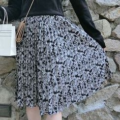 Cloud Nine - Floral Print Skirt
