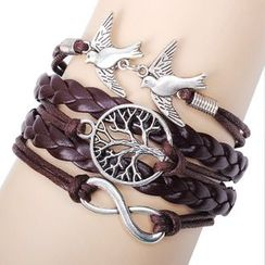 KINNO - Bird Woven Layered  Bracelet