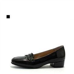 MODELSIS - Patent Kitten-Heel Loafers