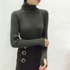 Octavia - Turtleneck Long-Sleeve Knit Top