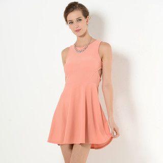 59 Seconds - Sleeveless Cross-Back A-Line Dress