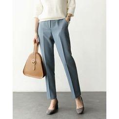 UPTOWNHOLIC - Flat-Front Dress Pants