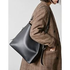 FROMBEGINNING - Synthetic Leather Tote with Two Pouches