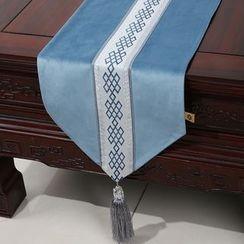 Sun East - Tasseled Patterned Table Mat