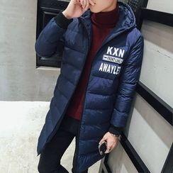 Besto - Hooded Padded Long Coat