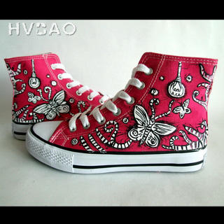 HVBAO - 'Flying Butterfly' High-Top Canvas Sneakers