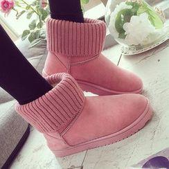 Max Dash - Knit Cuffed Snow Boots