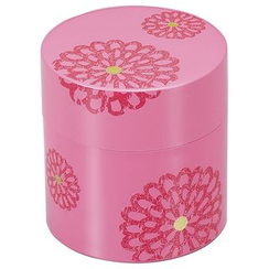 Hakoya - Hakoya Tea Caddy Flower Pattern Pink