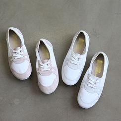 NANING9 - Faux-Leather Sneakers