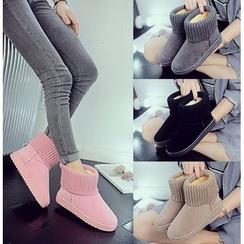 Simply Walk - 针织拼接短靴