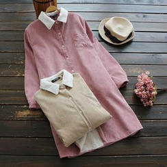 YOYO - Fleece-Lined Corduroy Shirtdress