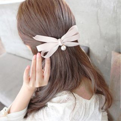 Persinette - Faux Pearl Bow Hair Clip