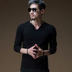 PROBOSCIS - V-neck Long-Sleeve T-shirt