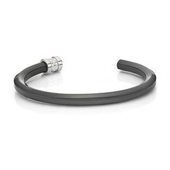Kenny & co. - Ip Black Hexagonal Steel Bangle