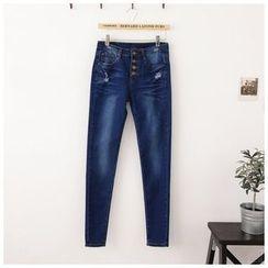 Maymaylu Dreams - 牛仔裤。四扣极致美身长裤
