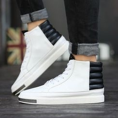 MARTUCCI - Paneled High-Top Sneakers