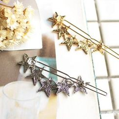 Hush Hush - Star Safety Pin Brooch