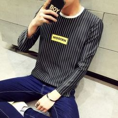 SICRIT - Long-Sleeve Striped T-Shirt
