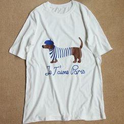Rosadame - Printed Short-Sleeve T-Shirt