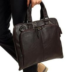 Moyyi - Faux Leather Briefcase