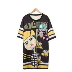 Momewear - Printed T-Shirt Dress