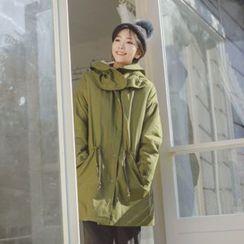 JUSTONE - Detachable-Hood Fleece-Lined Parka