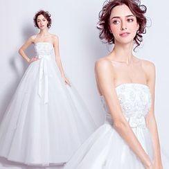 Angel Bridal - 抹胸蕾丝公主婚纱