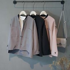 芷蓯夕 - 純色口袋夾克