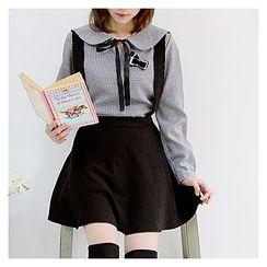 Sechuna - Suspender A-Line Skirt