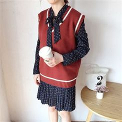 Mayflower - Contrast Trim Knit Vest