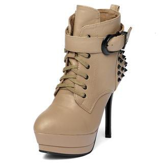 yeswalker - Velcro Ankle Stiletto Boots