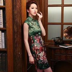 美丽至尚 - 碎花印花旗袍