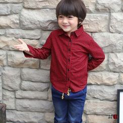 OrangeBear - Kid's Classic Gingham Shirt
