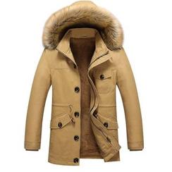 CREEKOB - 毛毛邊連帽內加絨外套