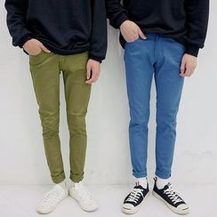 Seoul Homme - Colored Plain Tapered Pants