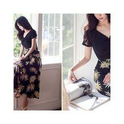 MASoeur - Set: Twist-Front Top + Patterned Wrap Skirt