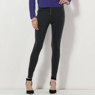 59 Seconds - High-Waist Zip-Front Skinny Pants