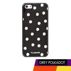 Vlashor - Polka Dot - Metellic Grey    iPhone5 Case